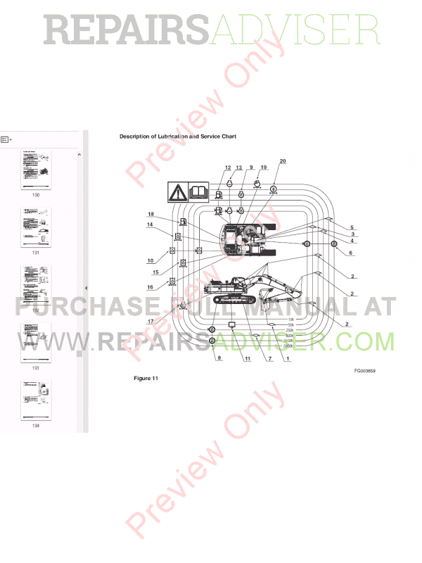 DOOSAN DAEWOO DX340LC Track Excavator Set of PDF Manuals, Manuals for Heavy Equip. by www.repairsadviser.com