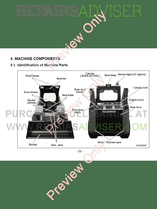 daewoo doosan 430  440 plus  450  460 loader service manual pdf