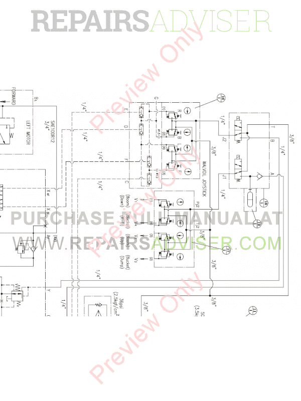 Daewoo    Doosan 440 Plus Skid Steer Loader Set    Schematics    of PDF Download
