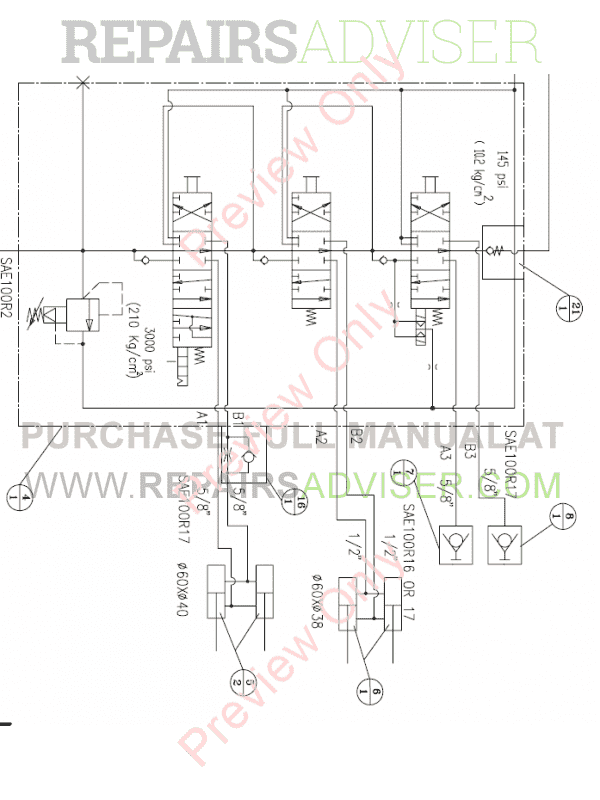 Daewoo Doosan 450 Plus Skid Steer Loader Set Schematics of PDF, Manuals for Heavy Equip. by www.repairsadviser.com