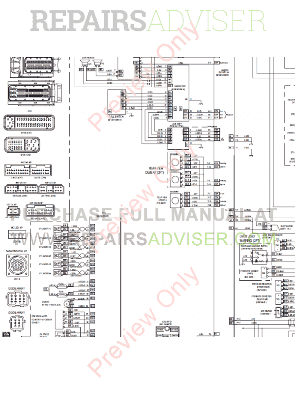 Daewoo Doosan DX490LC-3 & DX530LC-3 Excavators Set Schematics of PDF, Manuals for Heavy Equip. by www.repairsadviser.com