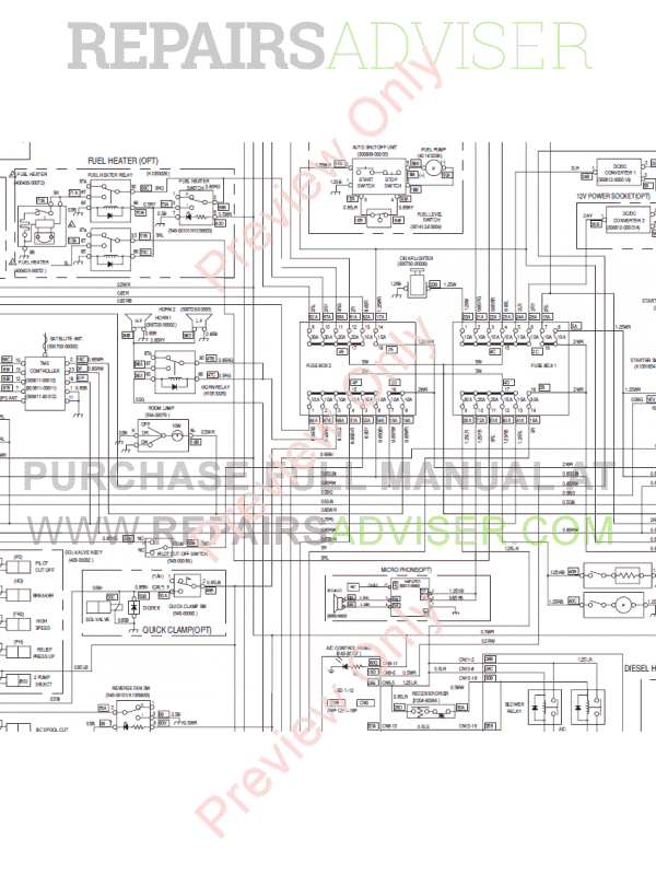 Daewoo Doosan DX490LC-3 & DX530LC-3 Excavators Set Schematics of PDF image #1
