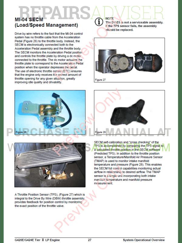 Daewoo G420E/G424E LPG Engine Lift Trucks Service Manual of ... on