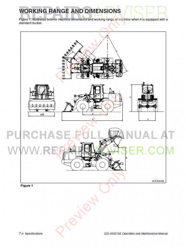 Daewoo Mega 250-V Wheel Loader Set of PDF Manuals, Manuals for Heavy Equip. by www.repairsadviser.com