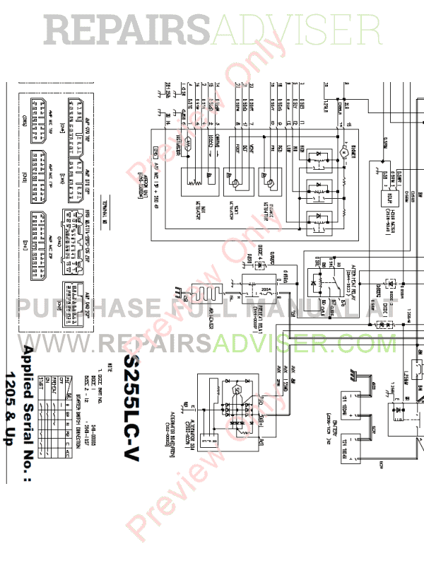Daewoo S250/S255 LCV Crawler Excavators Schemes Set of PDF, Manuals for Heavy Equip. by www.repairsadviser.com