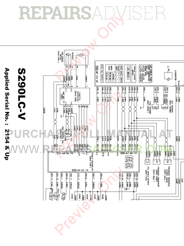 Daewoo S290LC-V Tracked Excavators Schemes Set of PDF, Manuals for Heavy Equip. by www.repairsadviser.com