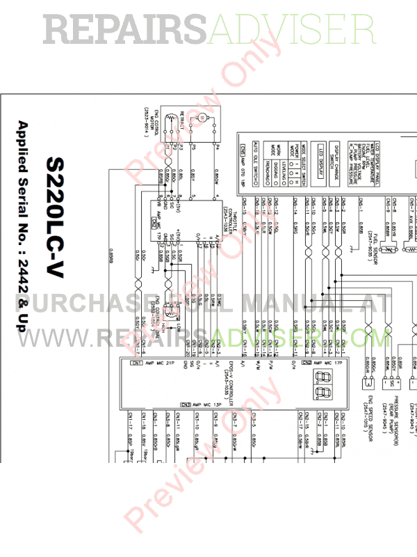 Daewoo Solar S220LC-V Tracked Excavator Schemes Set of PDF, Manuals for Heavy Equip. by www.repairsadviser.com