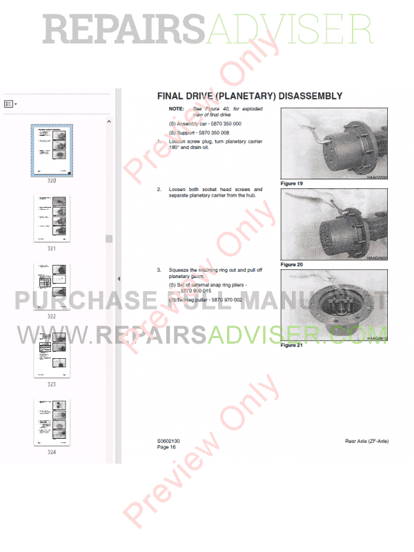 Daewoo Wheel Excavator Solar 180W-V Shop Manual PDF, Manuals for Heavy Equip. by www.repairsadviser.com