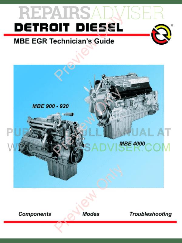 Detroit diesel service Manuals Pdf online Free