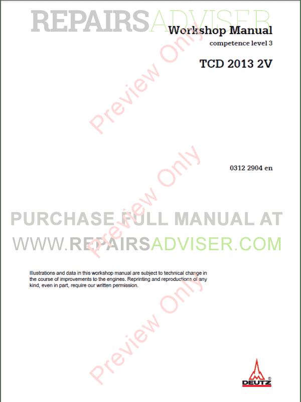 Deutz engine Service manual Pdf