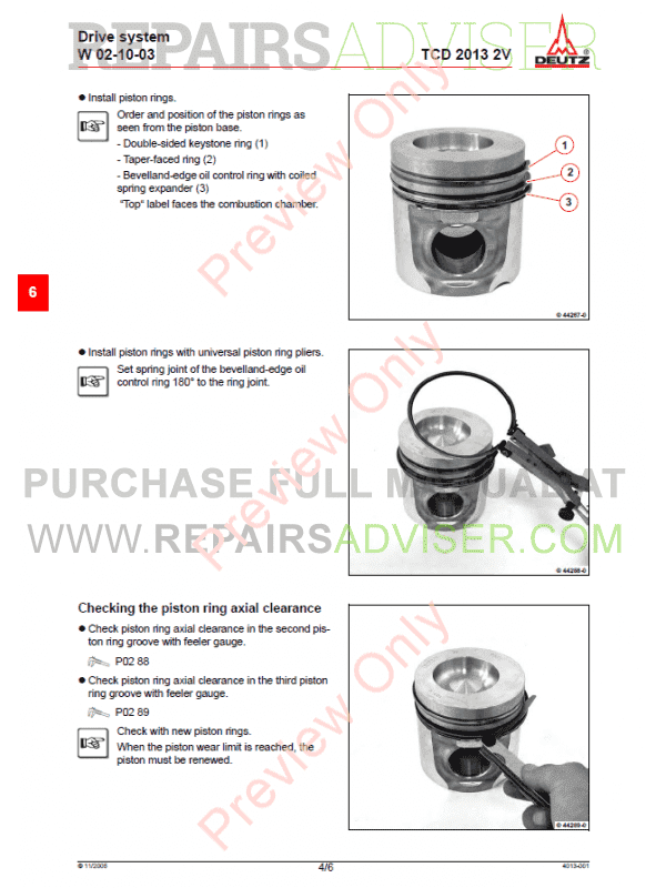Deutz TCD 2013 2V Engine Workshop Manual Competence Level 3 PDF, Manuals for Heavy Equip. by www.repairsadviser.com