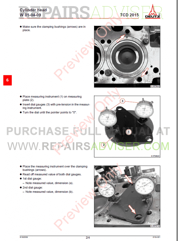 Deutz TCD 2015 Engine Workshop Manual Competence Level 3 PDF, Manuals for Heavy Equip. by www.repairsadviser.com