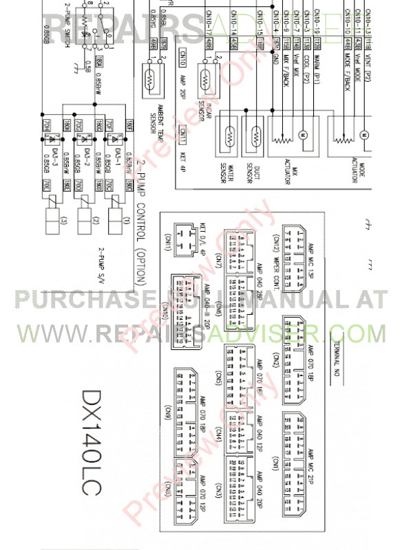 Doosan DX140LC-3 Hydraulic Excavator Schemes Set of PDF, Manuals for Heavy Equip. by www.repairsadviser.com