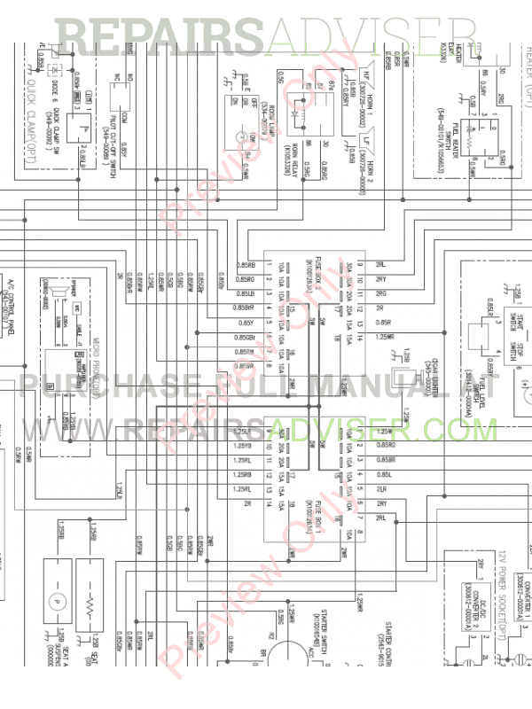 Doosan DX160LC-3 Crawler Excavator Wiring Diagram of PDF
