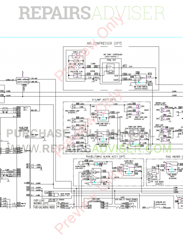 Doosan DX255LC-3 Crawler Excavator Set Schematics of PDF image #1