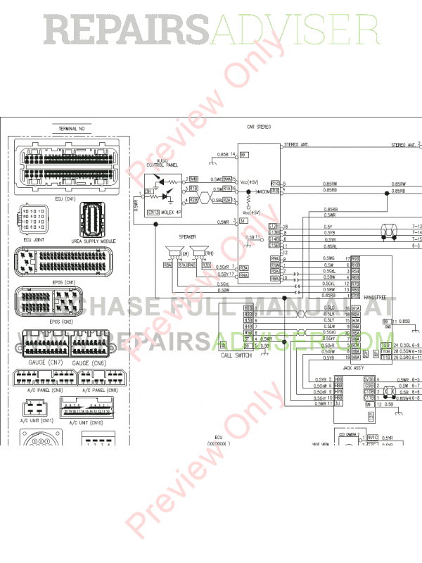 Doosan DX255LC-3 Crawler Excavator Set Schematics of PDF, Manuals for Heavy Equip. by www.repairsadviser.com