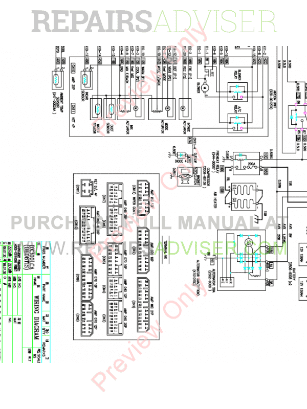 Doosan DX300LC-3/5 Hydraulic Excavator Schemes Set of PDF, Manuals for Heavy Equip. by www.repairsadviser.com