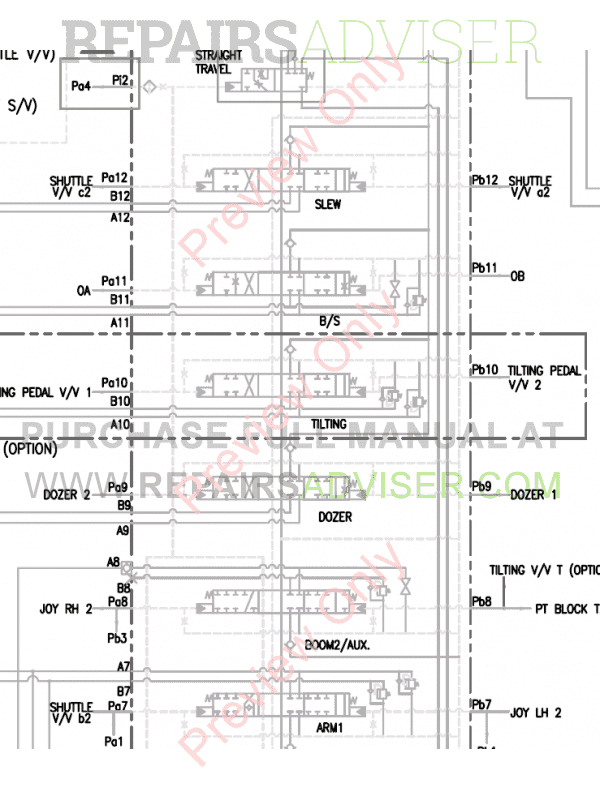 Doosan DX55W Wheel Excavator Schemes Set of PDF, Manuals for Heavy Equip. by www.repairsadviser.com