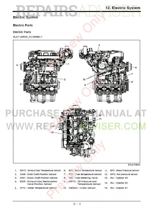 Doosan Diesel Engine D18NAP Operation & Maintenance Manual PDF, Manuals for Heavy Equip. by www.repairsadviser.com