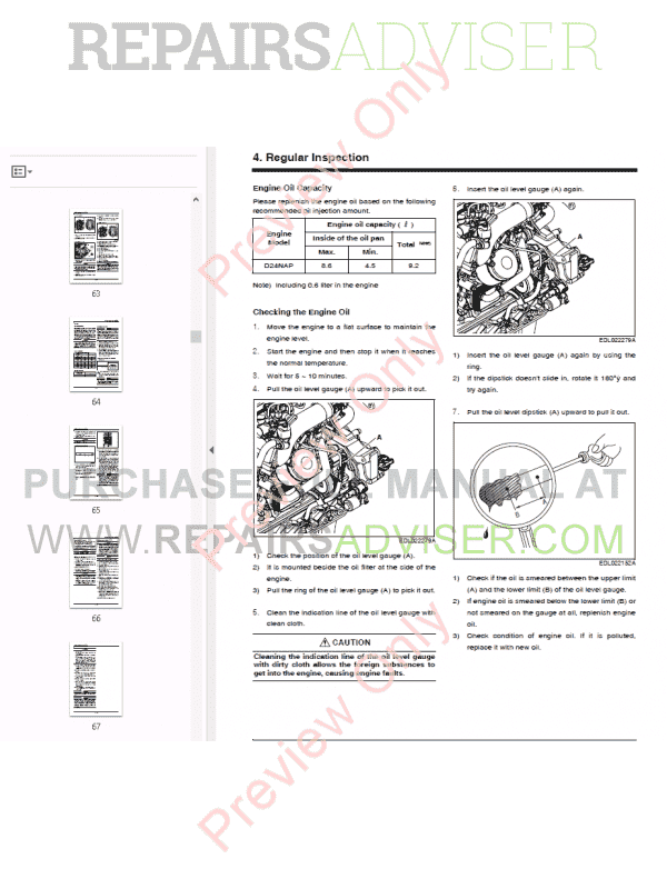 doosan diesel engine d24nap operation  u0026 maintenance manual
