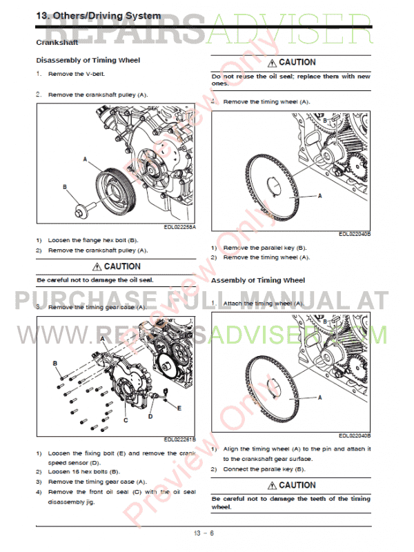 Doosan Diesel Engine D24NAP Operation & Maintenance Manual PDF, Manuals for Heavy Equip. by www.repairsadviser.com