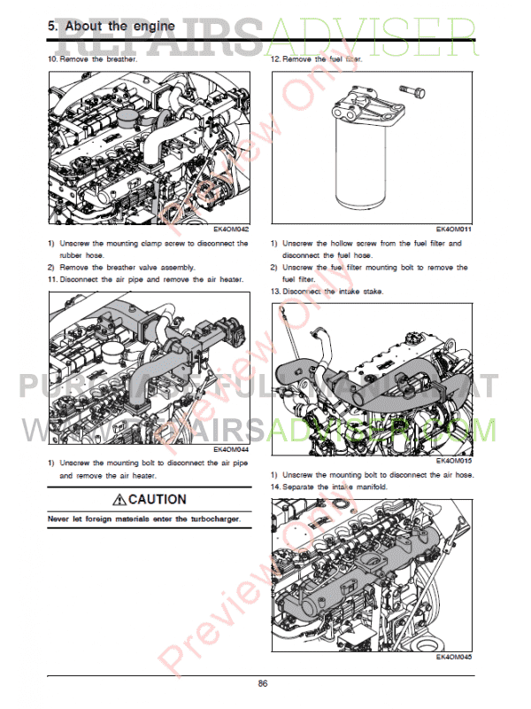 Doosan Diesel Engine DL06P Tier4 Final Operation and Maintenance Manual PDF, Manuals for Heavy Equip. by www.repairsadviser.com