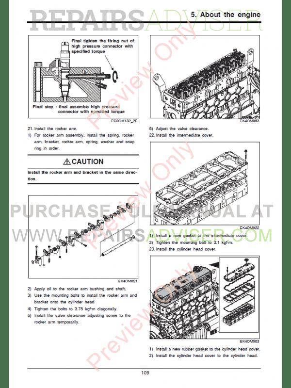 Doosan Diesel Engine DL06P Tier4 Final Maintenance Manual PDF