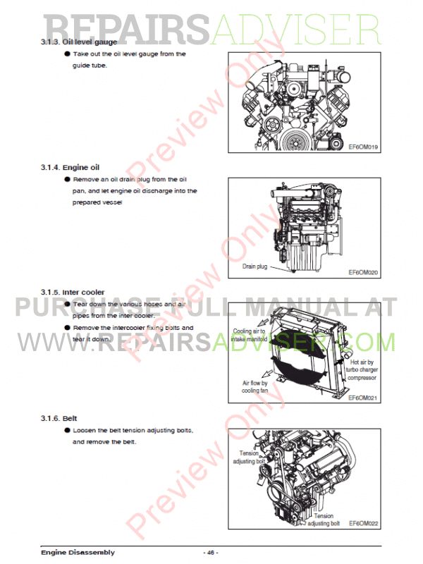 Doosan Diesel Engine DV11 Maintenance Manual PDF, Manuals for Heavy Equip. by www.repairsadviser.com