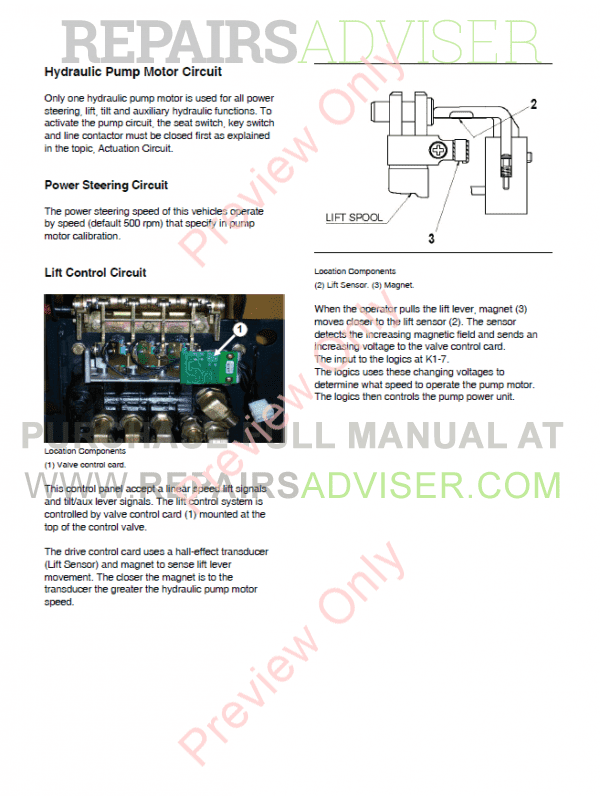 Doosan MicroController Control Systems Specifications Systems Operation Testing and Adjusting PDF Manual, Manuals for Heavy Equip. by www.repairsadviser.com