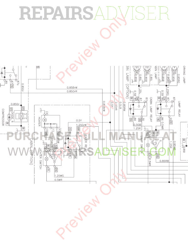 doosan mini crawler excavator dx35z set schematics of pdf download