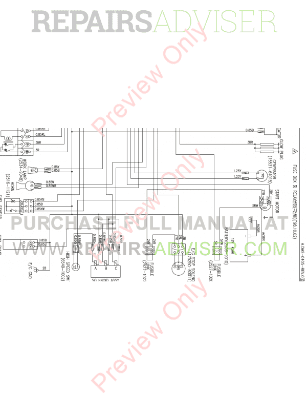 Doosan Mini Excavator S015 Set Schematics of PDF image #1