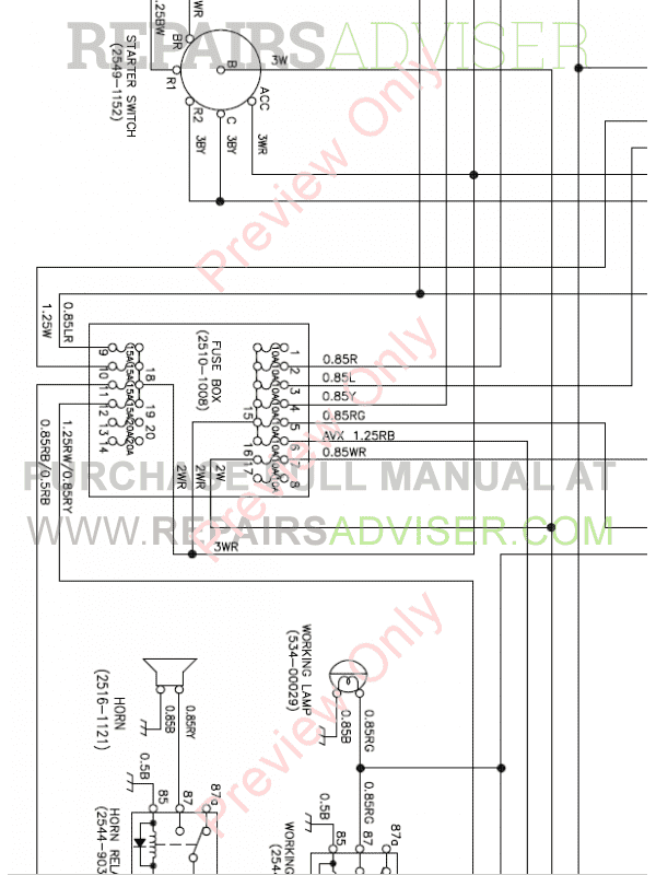 Doosan Mini Excavator S015 Set Schematics of PDF, Manuals for Heavy Equip. by www.repairsadviser.com