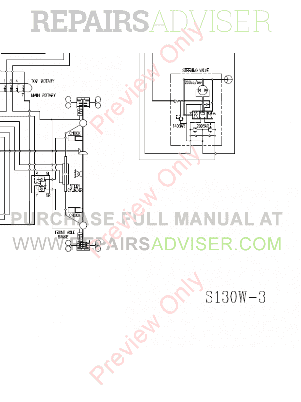 Doosan S130W-V/3 Wheel Excavator Schemes Set of PDF, Manuals for Heavy Equip. by www.repairsadviser.com