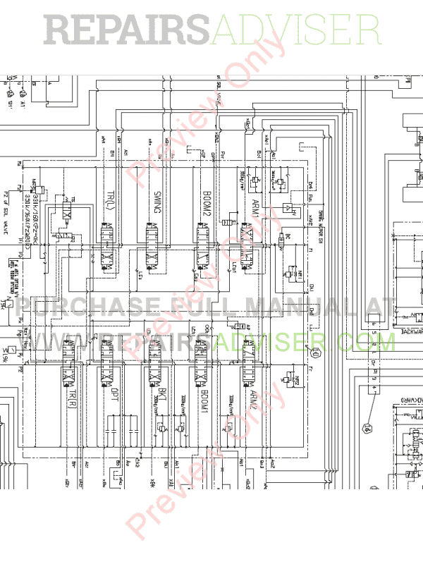 Doosan S140LC-V Hydraulic Excavator Schemes Set of PDF, Manuals for Heavy Equip. by www.repairsadviser.com