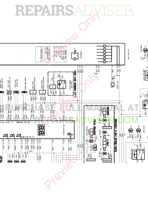 Doosan S175LCV Hydraulic Excavator Schemes Set of PDF