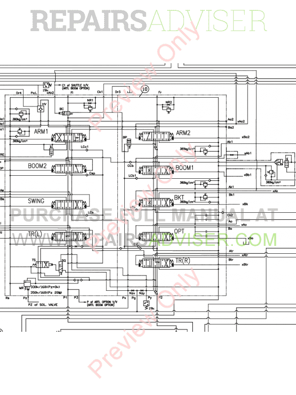 Doosan S175LCV Hydraulic Excavator Schemes Set of PDF, Manuals for Heavy Equip. by www.repairsadviser.com