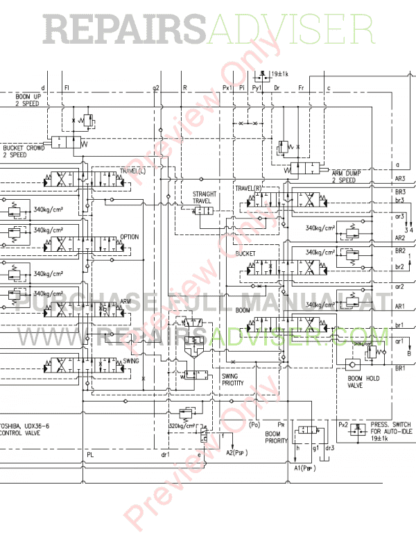 Doosan S450LC-3/S450-V Excavator Schemes Set of PDF, Manuals for Heavy Equip. by www.repairsadviser.com