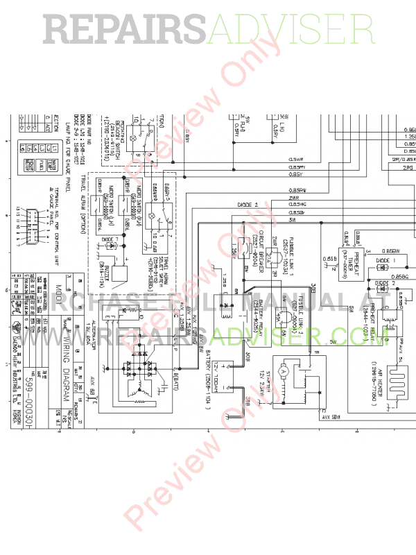 Doosan S55-V Mini Excavator Set Schematics of PDF, Manuals for Heavy Equip. by www.repairsadviser.com