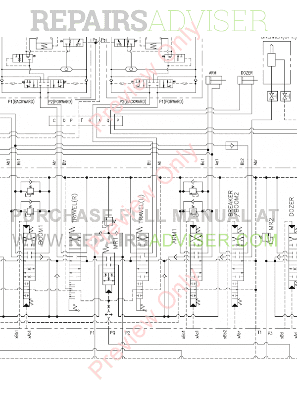 Doosan S55-V Mini Excavator Set Schematics of PDF image #1