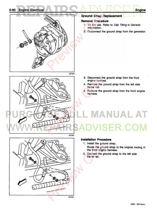 Isuzu Commercial Truck FRR/W5 & FRR/FTR/FVR (6HK1) Service Manual PDF, Manuals for Trucks by www.repairsadviser.com