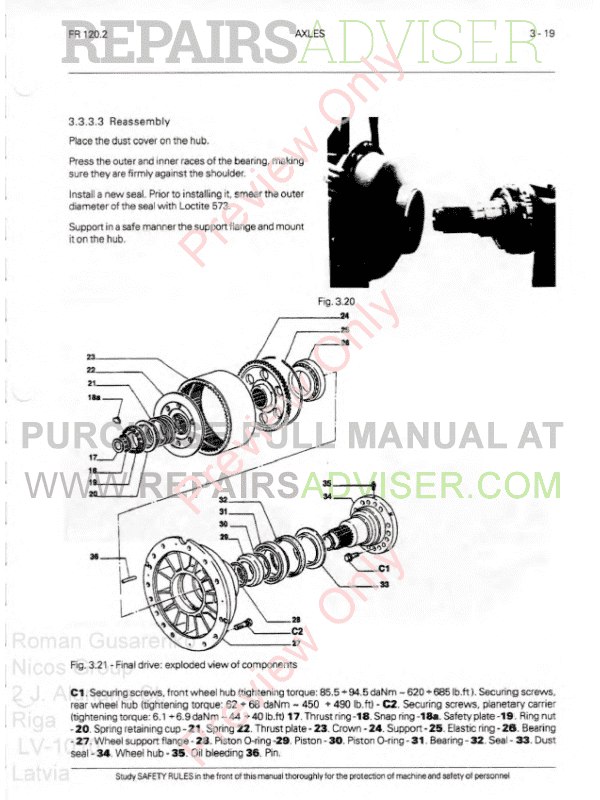 FiatAllis FR120.2 Wheel Loader Operation and Maintenance Instruction + Service Manual PDF,  by www.repairsadviser.com