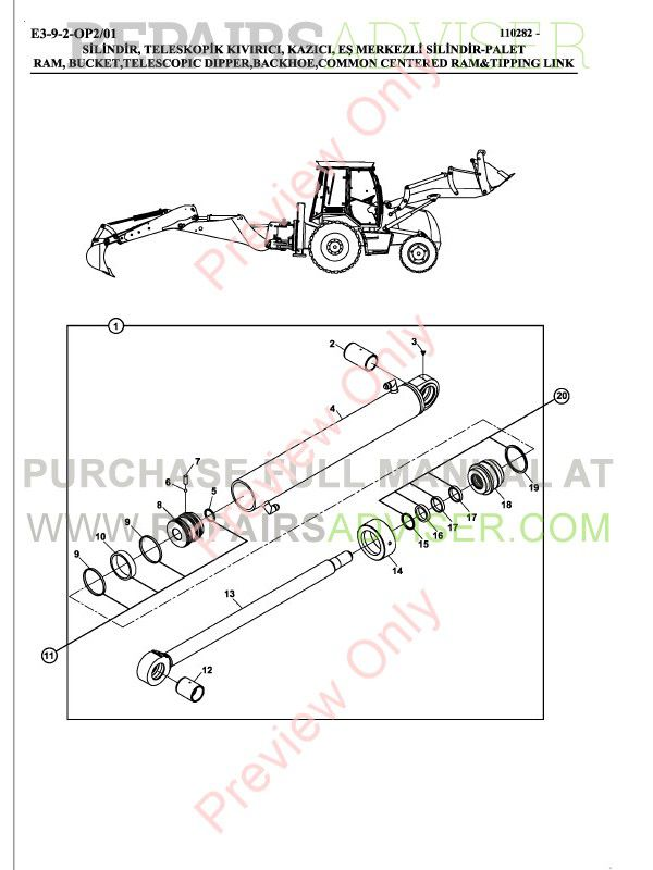 Hidromek HMK 102B, 102S, 200W, 220LC-2 Backhoe Loaders Set of Parts Catalogs PDF, Manuals for Heavy Equip. by www.repairsadviser.com