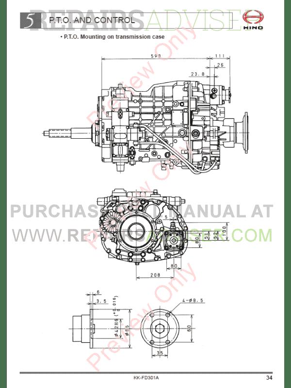 Hino 6dti Engine