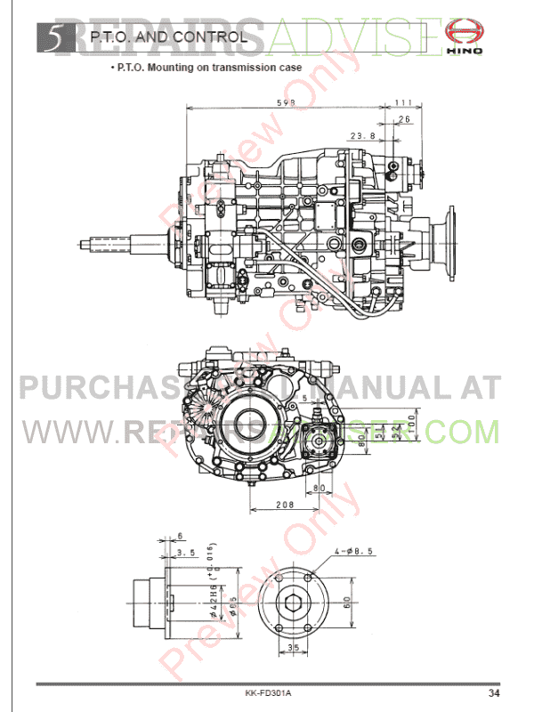 hino truck service manual pdf