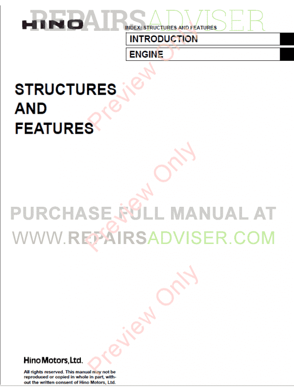 Hino A09C Engine Workshop Manual PDF image #1
