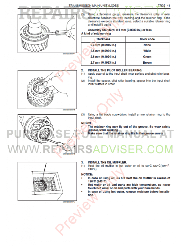 Hino FC4J Series Engine Workshop Manual PDF, Manuals for Cars by www.repairsadviser.com