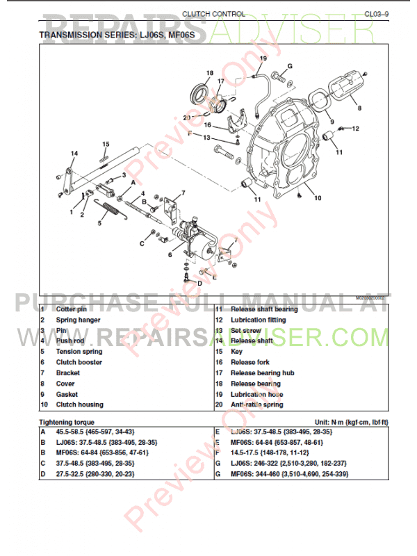 Hino jo8 Engine Manual