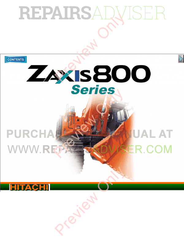 Hitachi Zaxis 800, 850H Hydraulic Excavators Set of PDF Manuals image #1