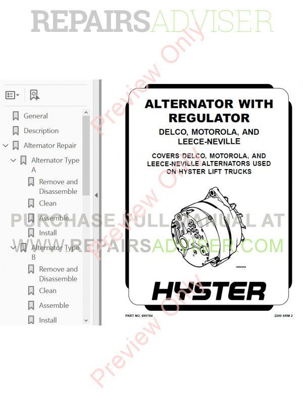 Hyster h 50 Service manual