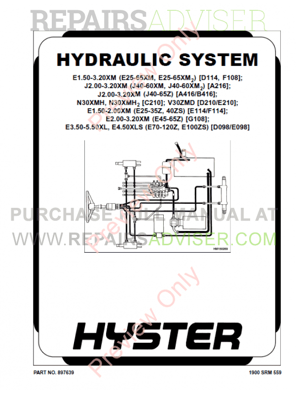 Hyster Class 1 For A216 Electric Motor Rider Trucks PDF Manual image #1